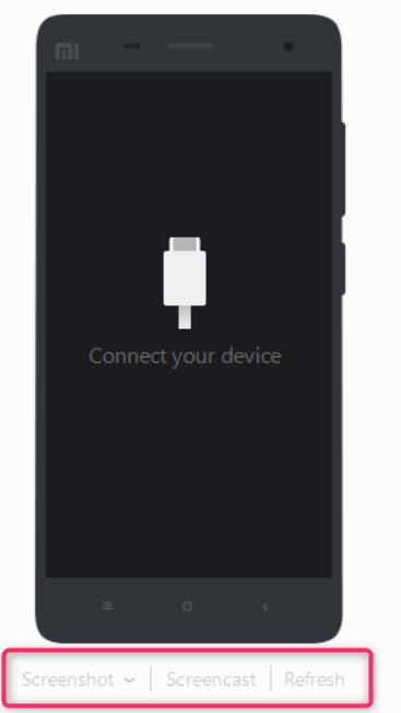 Funciones de captura de pantalla de MI PC Suite